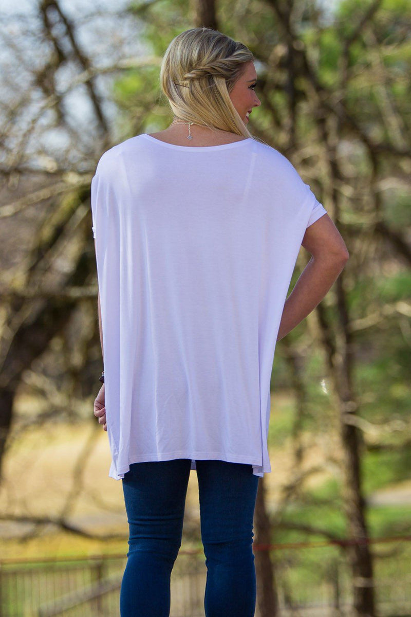 Short Sleeve Piko Tunic - White - Piko Clothing