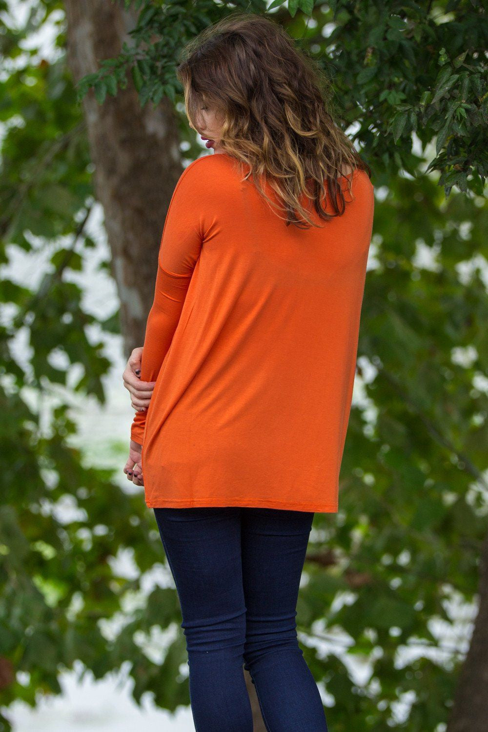 Long Sleeve Piko Top - Orange - Piko Clothing