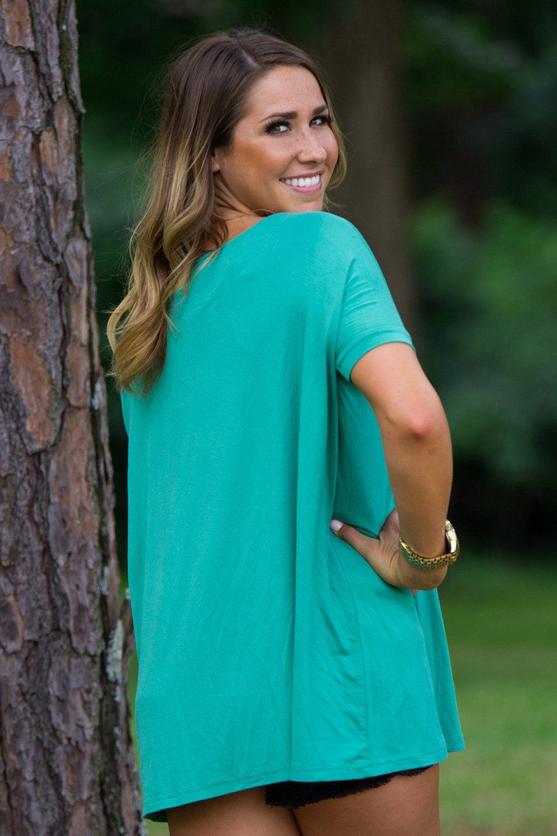 Short Sleeve Piko Top - Green - Piko Clothing