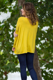 Long Sleeve Piko Top - Mustard - Piko Clothing - 2