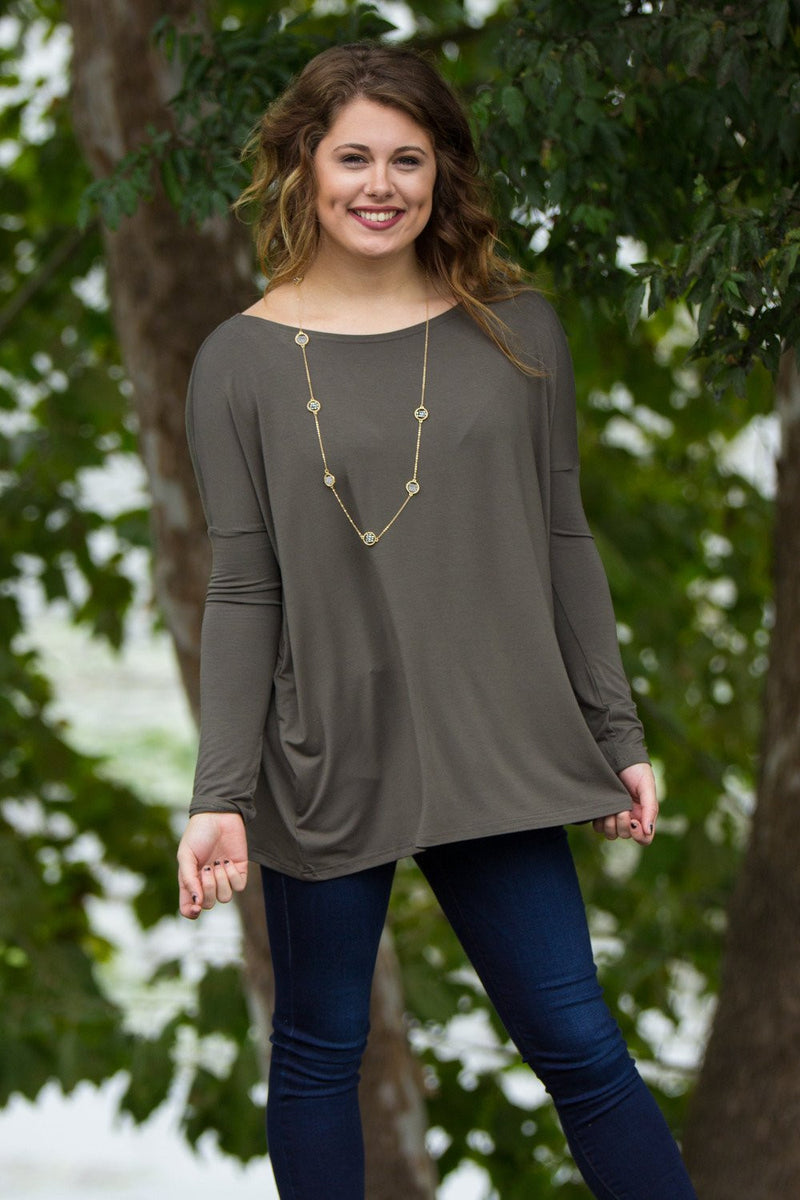 Long Sleeve Piko Top - Army - Piko Clothing