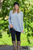 Long Sleeve Piko Sweater - Grey - Piko Clothing