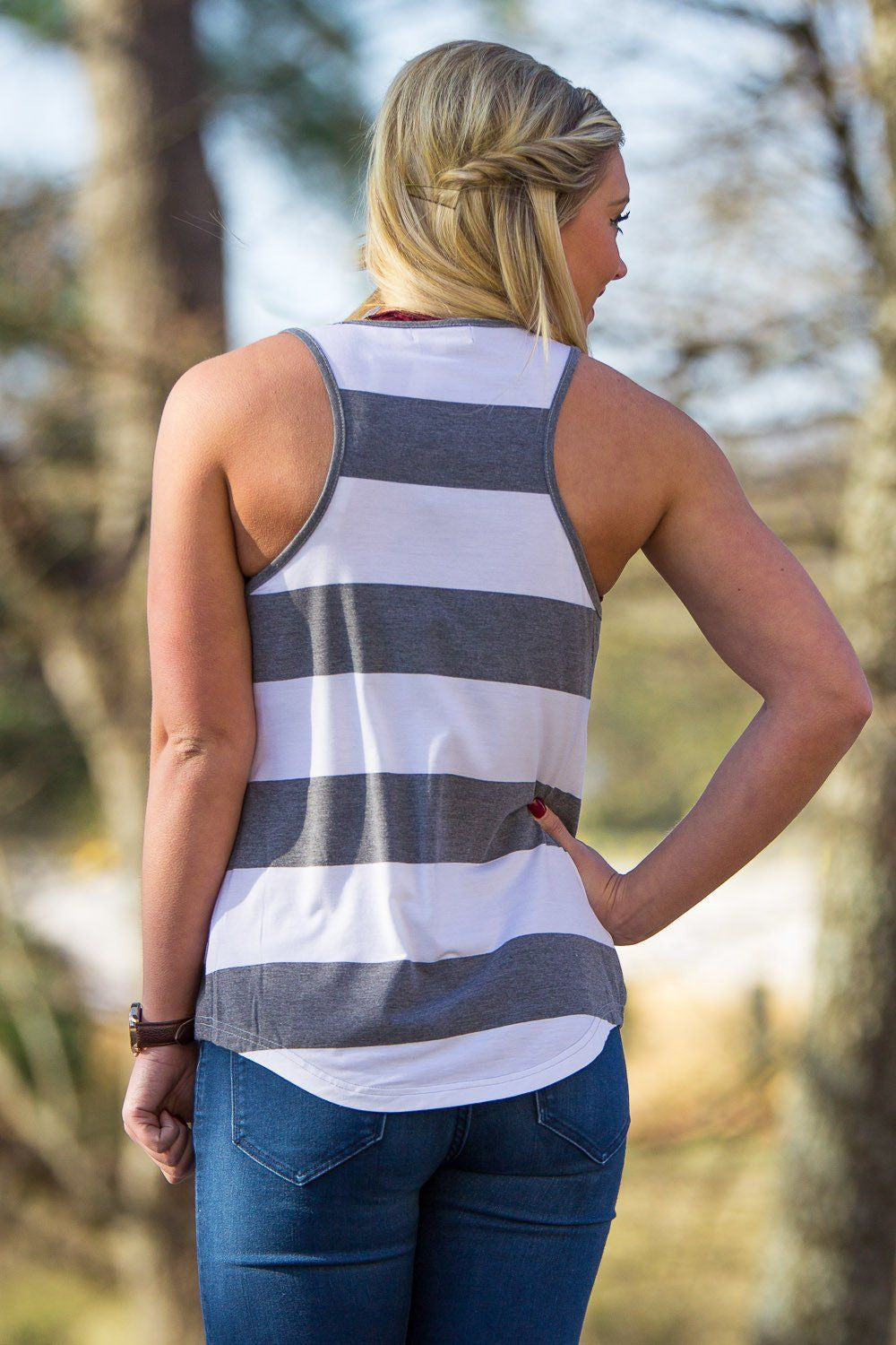 Piko Tank Top - Heather Grey/White - Piko Clothing - 2