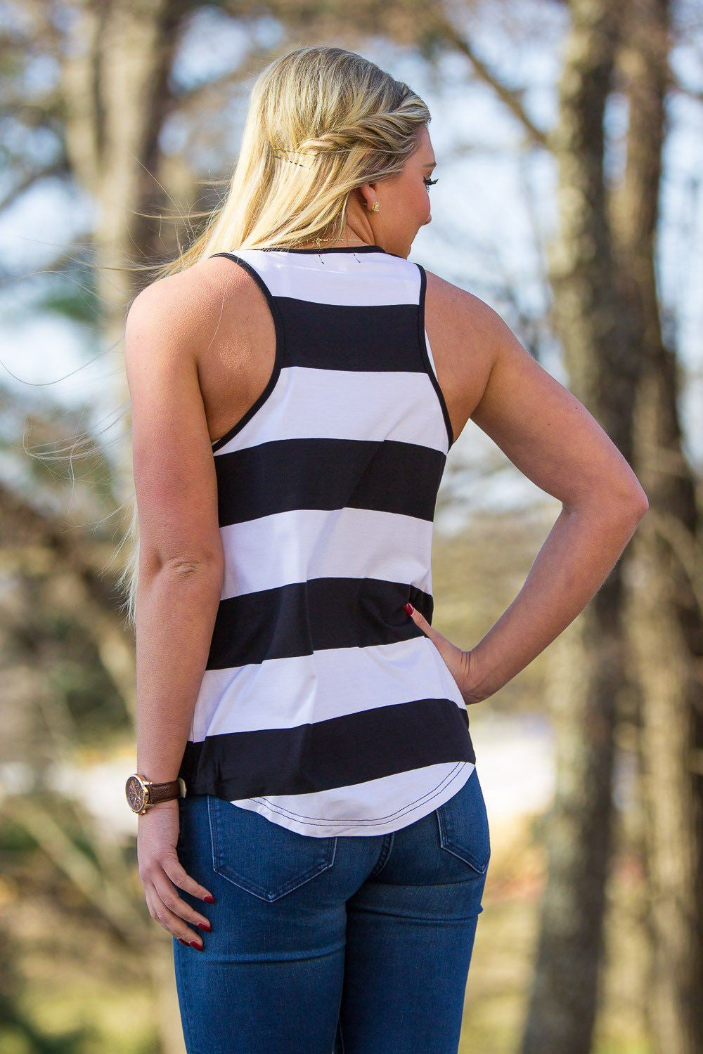 Piko Tank Top - Black/White - Piko Clothing
