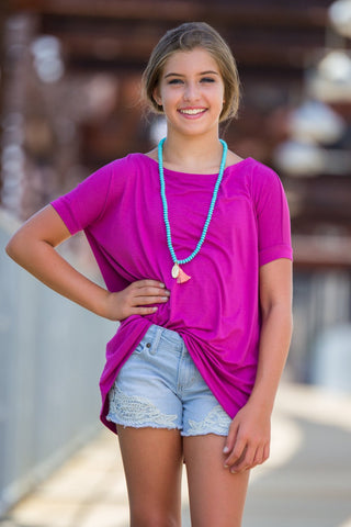 Short Sleeve Kids Piko Top - Orchid - Piko Clothing - 1