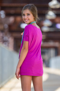 Short Sleeve Kids Piko Top - Orchid - Piko Clothing - 2