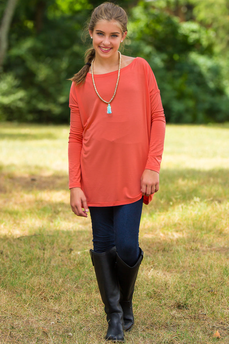 Long Sleeve Kids Piko Top - Fiesta - Piko Clothing