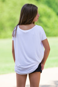 Short Sleeve Kids Piko Top - White - Piko Clothing - 2