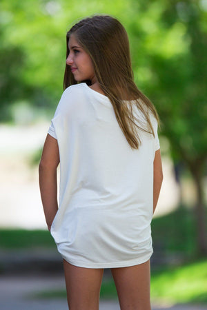 Short Sleeve Kids Piko Top - Off White - Piko Clothing - 2