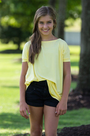 Short Sleeve Kids Piko Top - Yellow - Piko Clothing
