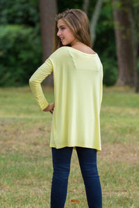 Long Sleeve Kids Piko Top - Yellow - Piko Clothing