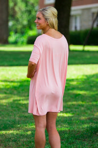 Half Sleeve Piko Tunic - Peach - Piko Clothing