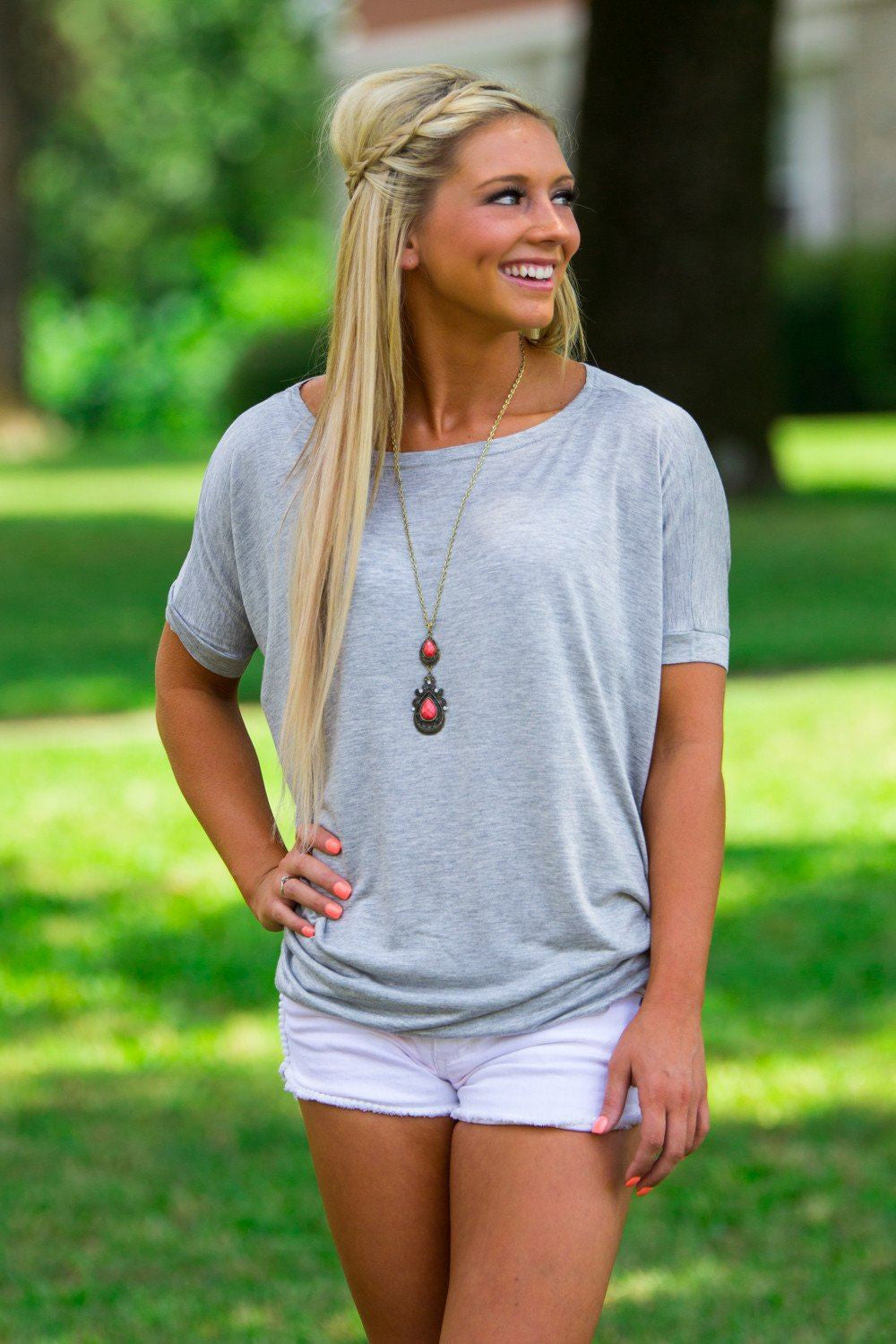Short Sleeve Piko Top - Heather Grey - Piko Clothing - 1
