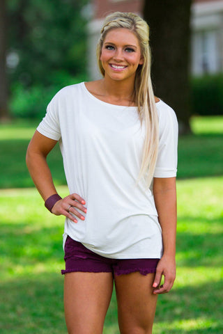 Short Sleeve Piko Top - Off White - Piko Clothing - 1