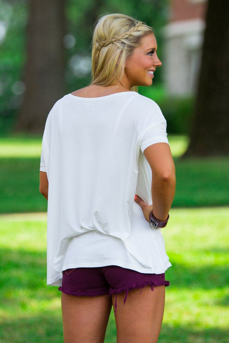 Short Sleeve Piko Top - Off White - Piko Clothing - 2