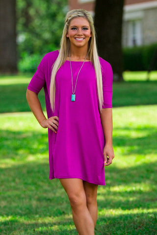 Half Sleeve Piko Tunic - Orchid - Piko Clothing