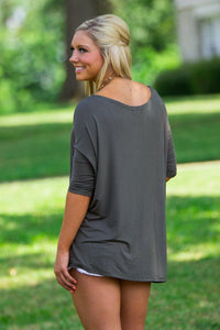 3/4 Sleeve Piko Top - Army - Piko Clothing