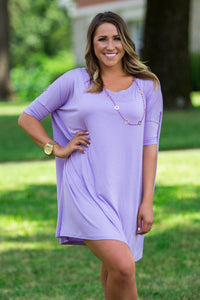 Half Sleeve Piko Tunic - Lilac - Piko Clothing