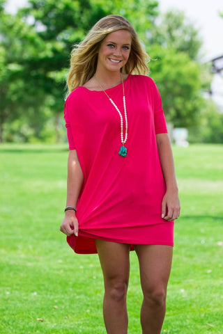 Half Sleeve Piko Tunic - Watermelon - Piko Clothing