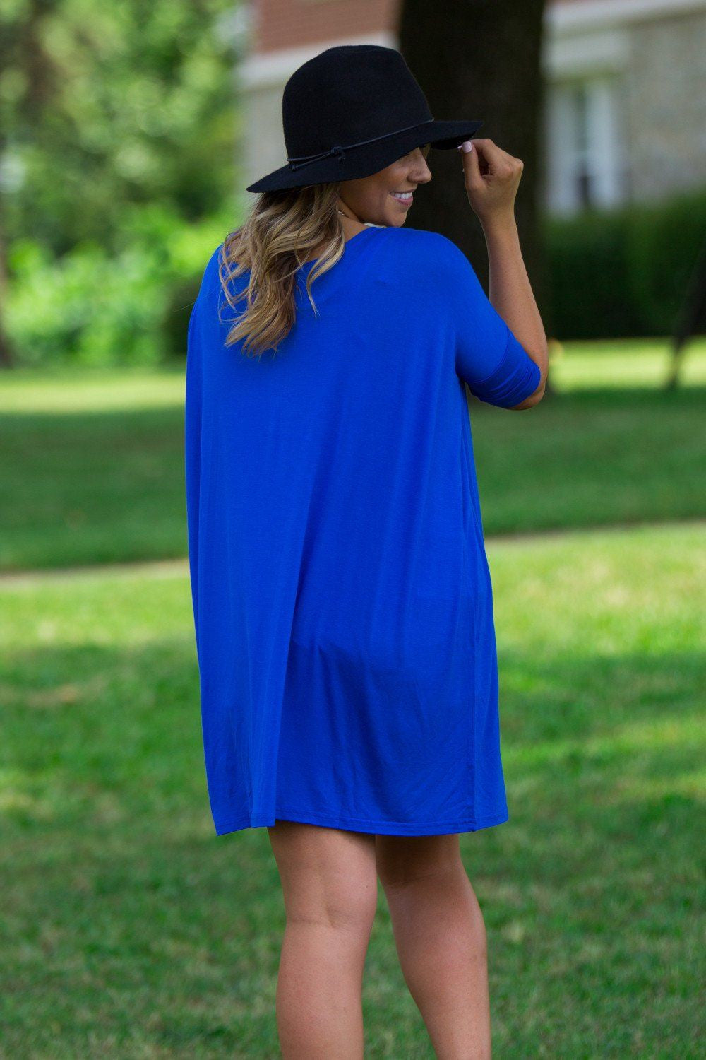 Half Sleeve Piko Tunic - Royal Blue - Piko Clothing