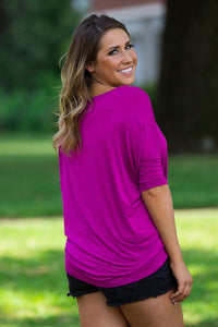 3/4 Sleeve Piko Top - Orchid - Piko Clothing