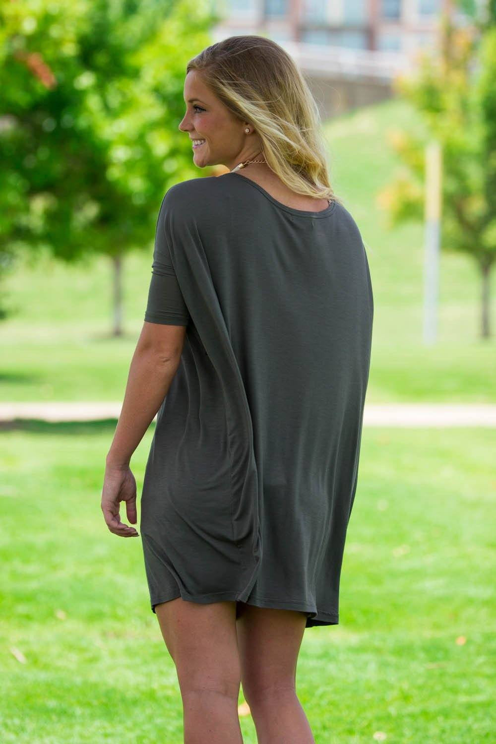 Half Sleeve Piko Tunic - Army - Piko Clothing
