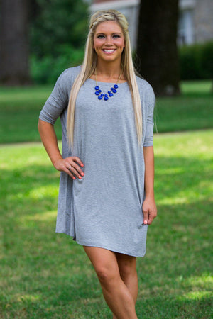 Half Sleeve Piko Tunic - Heather Grey - Piko Clothing
