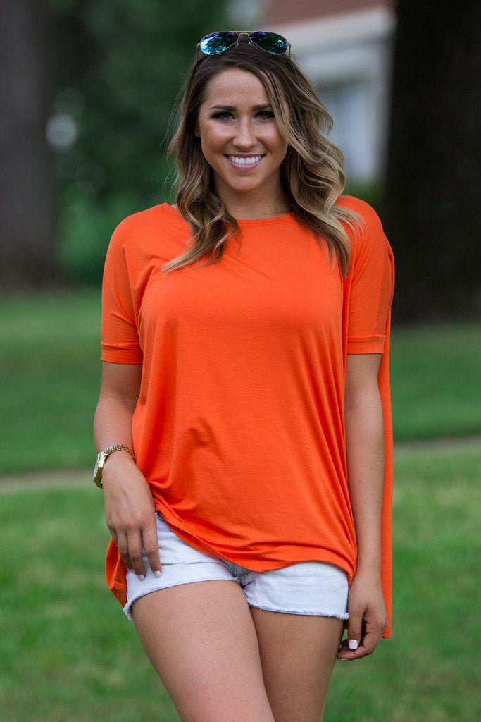 Short Sleeve Piko Top - Orange - Piko Clothing - 1