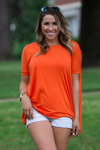 Short Sleeve Piko Top - Orange - Piko Clothing