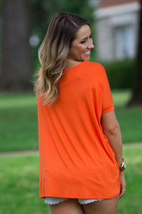 Short Sleeve Piko Top - Orange - Piko Clothing - 2