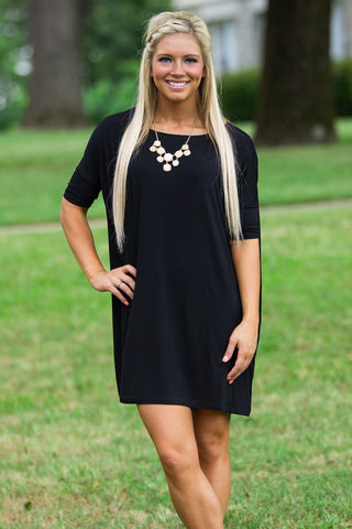 Half Sleeve Piko Tunic - Black - Piko Clothing - 1