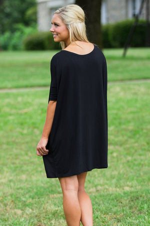 Half Sleeve Piko Tunic - Black - Piko Clothing