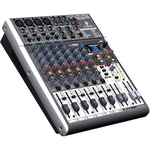 Behringer Live Sound and Lighting - NEW Mixers - Analog Mixers Default Behringer X1204USB 12-input Mixer with XENYX Mic Preamps & Compressors, British EQs, 24-Bit Multi-FX Processor, USB/Audio Interface