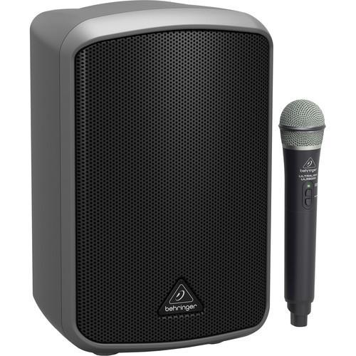 Live Sound and Lighting - NEW Speakers - All In One Systems Behringer MPA100BT All-in-One Portable 100-Watt Speaker with Wireless Microphone, Bluetooth Connectivity and Battery Operation