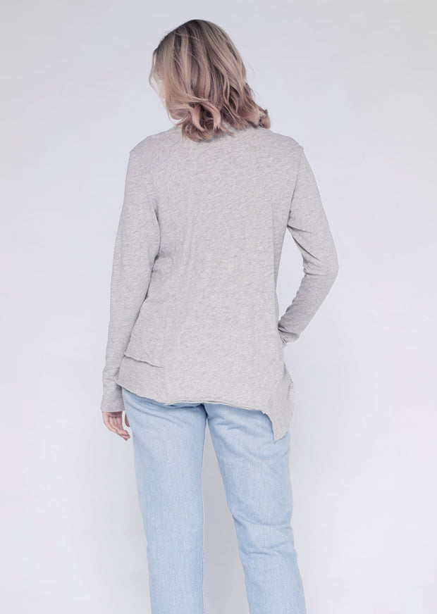 L/S Easy Layered Tee W/ Back-slant