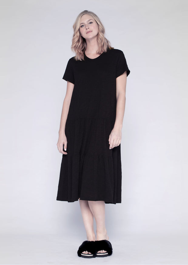 S/S Tiered Long Dress