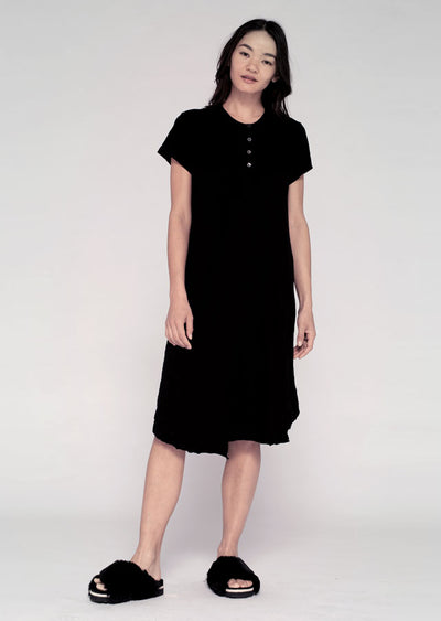 S/S Shifted Henley T Dress
