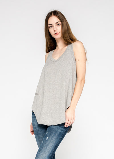 Shrunken Shirttail Tank Gathered