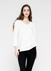 Fractured Shirttail Deep V 3/4 Sleeve