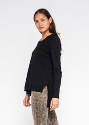 Side Slit Crew L/S Tunic Tee