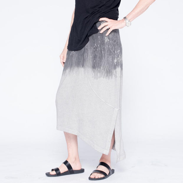 Bleed Novelty Dye Slanted Skirt