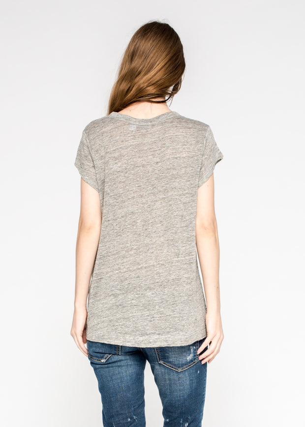 Raw Soft Sleeve Scoopy Tee
