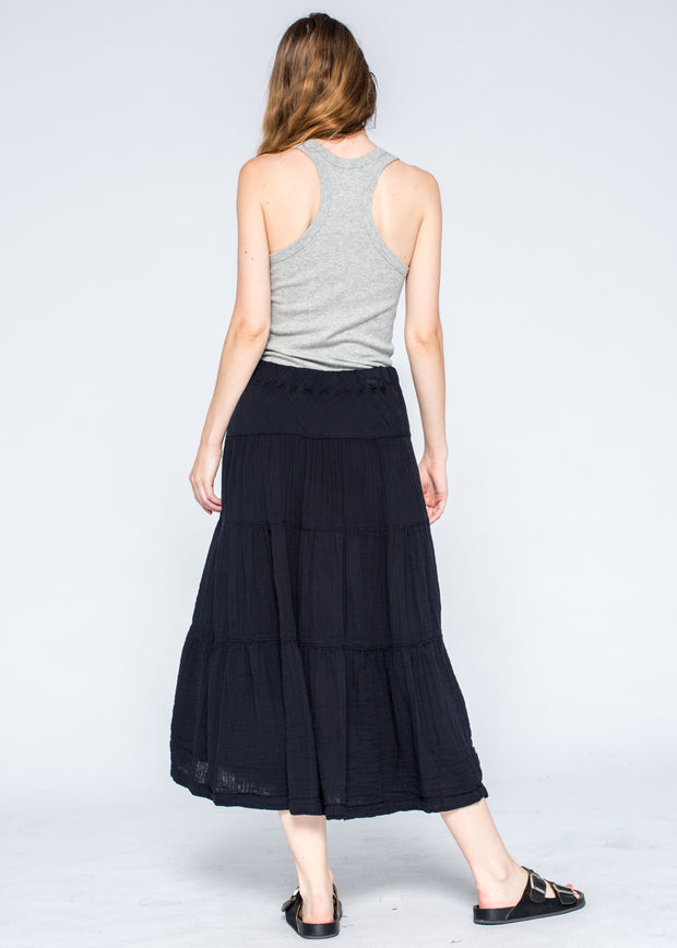 Tiered Long Skirt Fully Lined