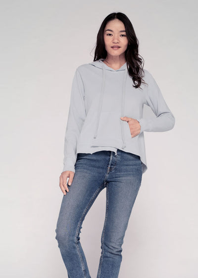 Shifted Shrunken Hooded Sweatshirt W/ Pocket