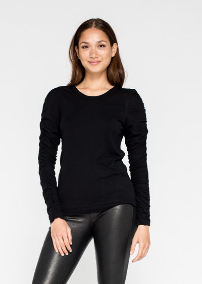 Fitted Crew Fractured L/S Double Front