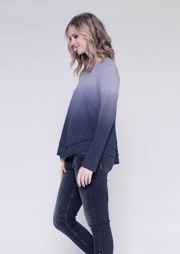 L/S Ombre Mock Layer Tee