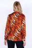 Orange & Black Tiger Printed Shirt