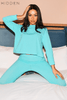Turquoise Ribbed Top & Leggings Lounge Co-ord