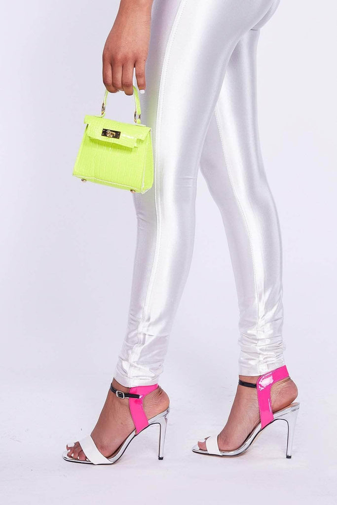 Neon Lime Micro Mini Croc Bag