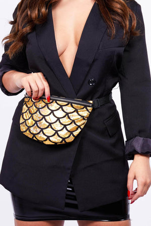 Metallic Gold Mermaid Bum Bag